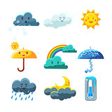 Weather Forecast Elements Set