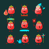 Tomato Cartoon Character Set