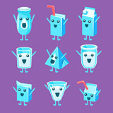 Milk Container Character Set
