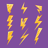 Lightening Bolt Set