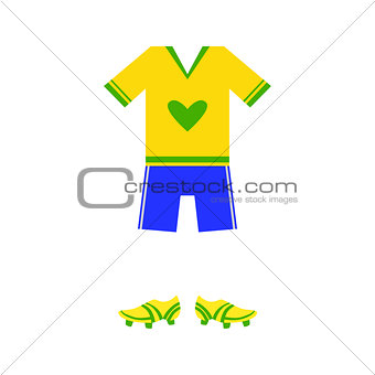 Brazilian Soccer Player Uniform
