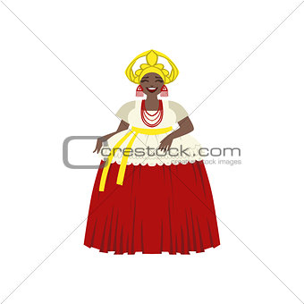 Brazilian Woman In National Costume