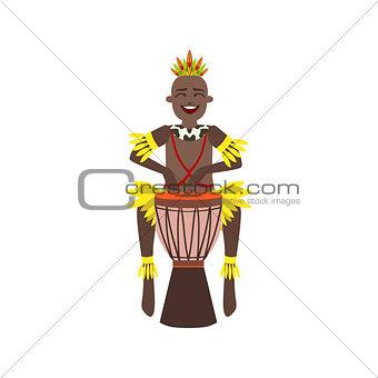 Black Man In Indigenous Brazilian Costume