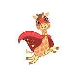 Giraffe In Superhero Costume