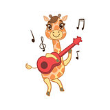 Giraffe Playing Guitar