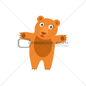 Toy Bear Simplified Cute Illustration