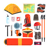 Mountain Camping Equipment Set
