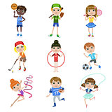 Kids Doing Sports Set