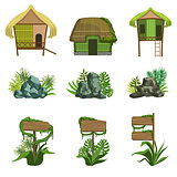 Jungle Landscape Elements Set