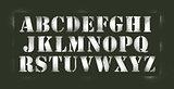 Alphabet stencil spray