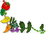 Happy Vegetables Background