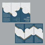 Blue tri-fold flyer brochure template