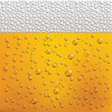 Beer Bubbles and Foam. Vector Illustration.