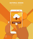 Cloud computing app mockup