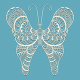 Vector Doodle Butterfly,