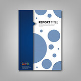 Brochures book or flyer with abstract blue design circles
