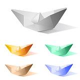 Vector paper ship