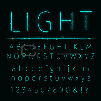 Alphabet of lights