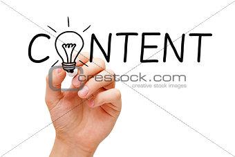 Content Light Bulb Concept