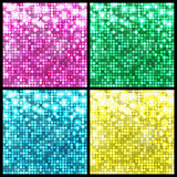 Sparkling disco mosaic backgrounds Set