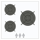 Gas top of kitchen gas stove vector