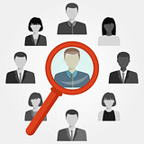 Search employee for recruitment agency.