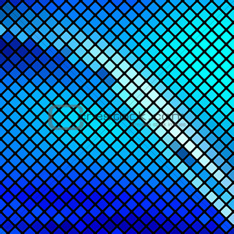 Beautiful blue mosaic