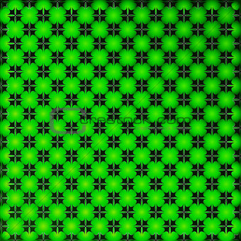 Bright green geometrical background