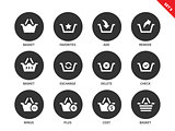 Baskets icons on white background