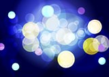Bright abstract lights bokeh background