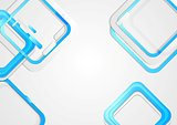 Tech vector background with blue squares