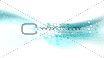 Abstract vector flow blue wavy graphic design