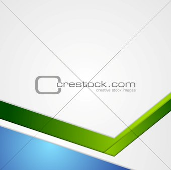 Blue and green tech geometric flyer background