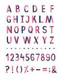 Handwritten vector alphabet