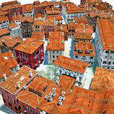 Typical Italian city, 3d illustration