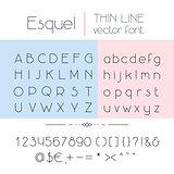 Thin line font