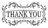 Thank you vintage message with antique frame design element