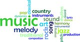 word cloud - music
