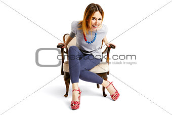 Sitting Down Woman