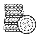 car tires illustration
