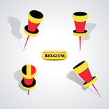 Set of pushpins, vector illustration.
