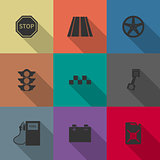 Auto icons, vector illustration.