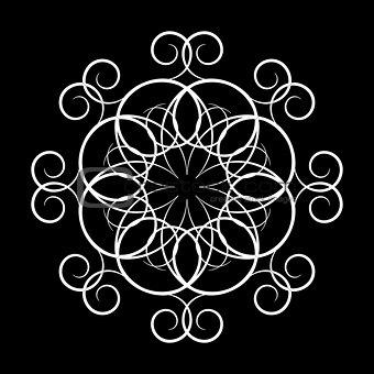 A circular ornament, vector illustration.