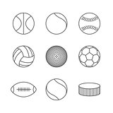 Icons balls, vector illustration.