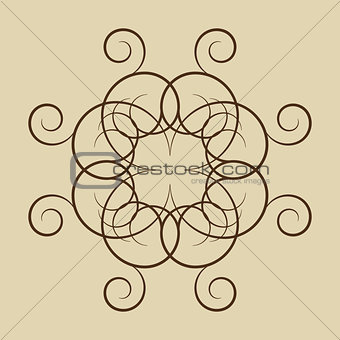 A circular ornament, vector illustration.