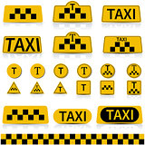 Set sign taxi , vector illustration.