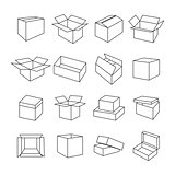 Icons box, vector illustration.