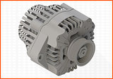alternator isometric perspective view flat