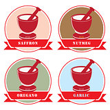 Set of labels for spices