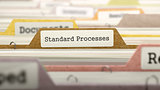 Standard Processes Concept on File Label.